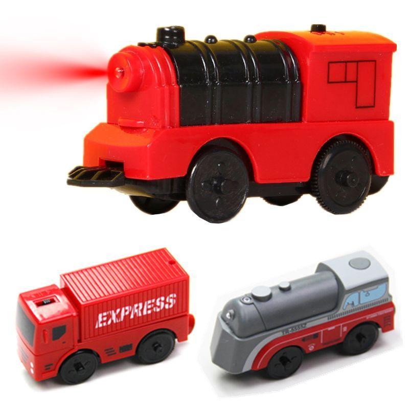 Combinazione di locomotiva del treno magnetico elettrico Accessori pista in legno