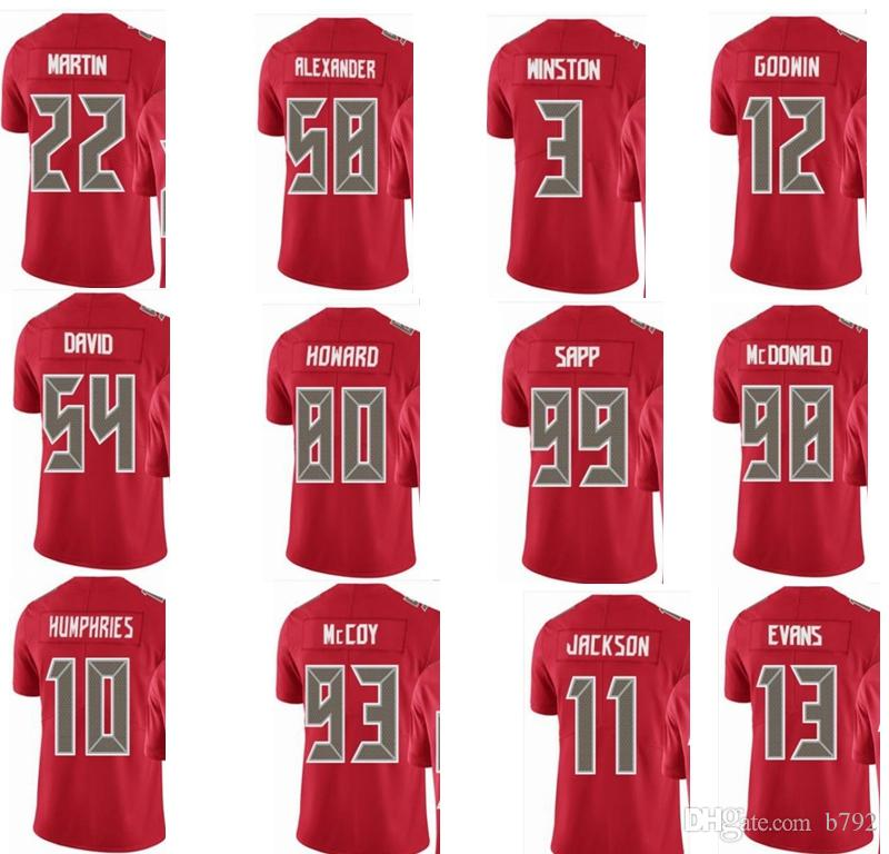 online store eaa49 0a8ba 2019 BUCCANEER Tampa Bay #13 Mike Evans #3 Jameis Winston #58 Kwon  Alexander 11 DeSean Jackson Men Women Youth Color Rush Elite Football  Jersey From ...
