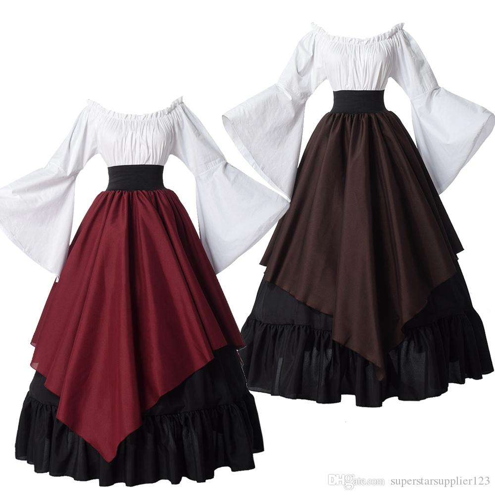 Renaissance Dresses Medieval Costume for Women Halloween Carnival Middle Ages Stage Performance Gothic Court Retro Victorian Dress
