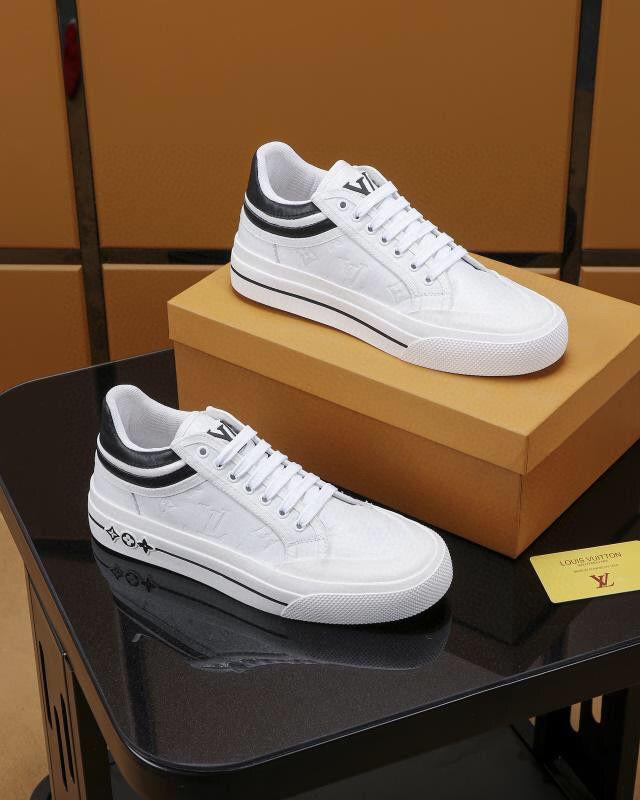 louis vuitton LV 2020 HOT Italie Luxe Chaussures Casual Hommes Low Top Chaussures plates en cuir véritable Chaussures Hommes Designers Sneakers Formateurs
