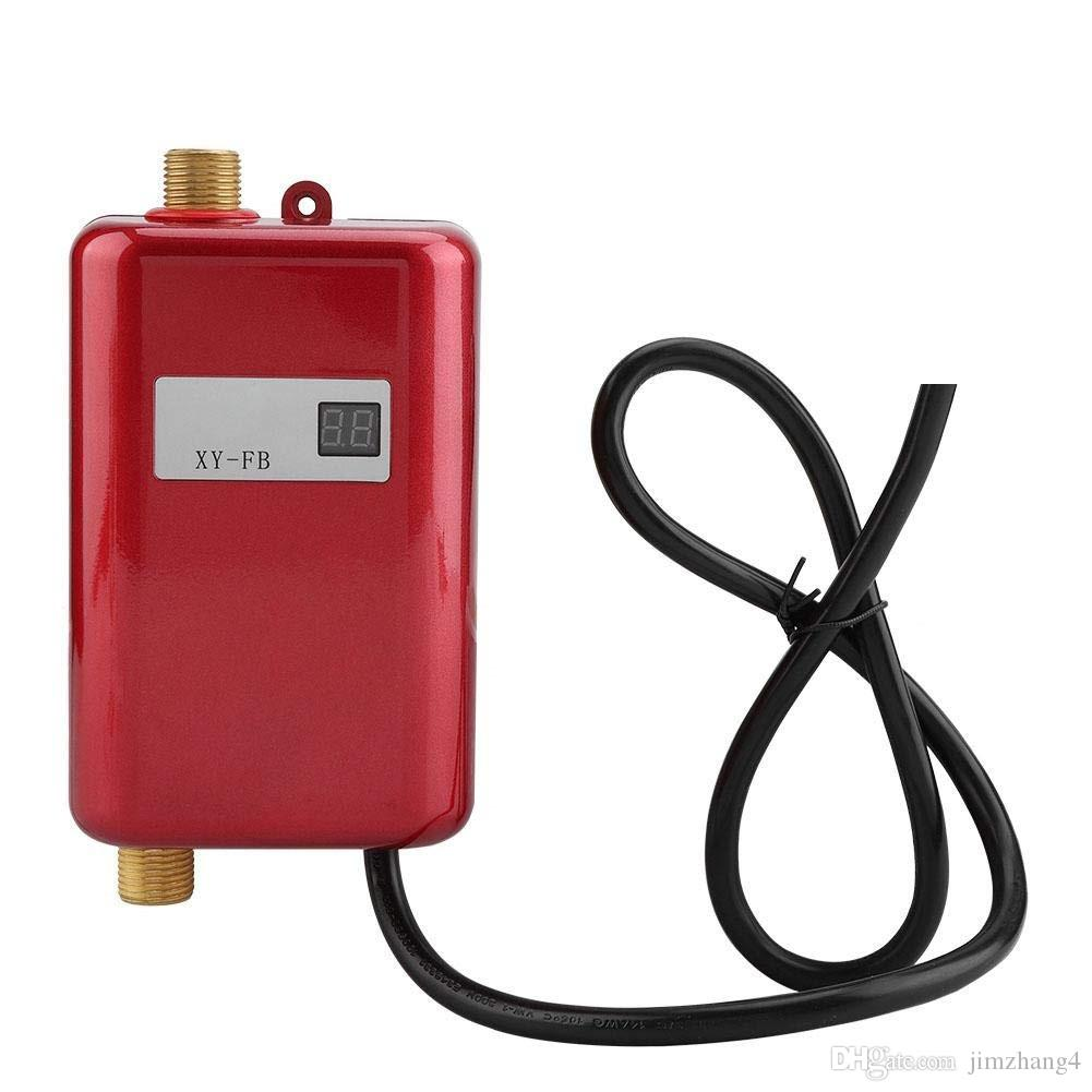 ALDXY50-XY-FB-R, sistema de calentador de agua caliente del calentador de agua eléctrico 220V-240V 3000W Mini sin tanque instantánea para baño de lavado Cocina Hogar