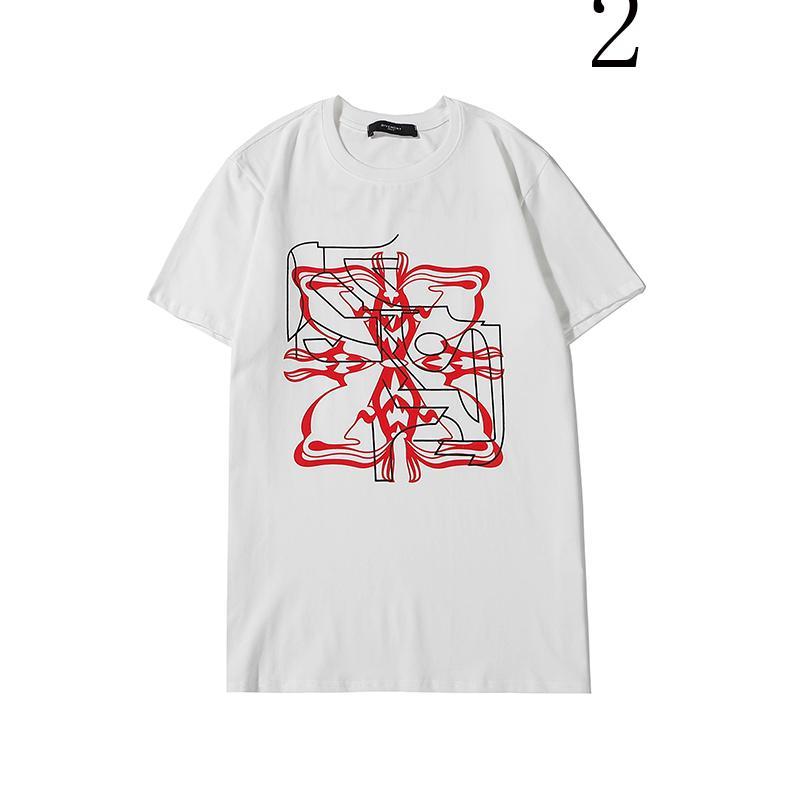 Markalı Erkek Gömlek Yaz Designered Erkek Moda Tişört Kısa Kollu Kadınlar Lüks Üst Tees Hip Hop Erkek Streetwear 2020307K