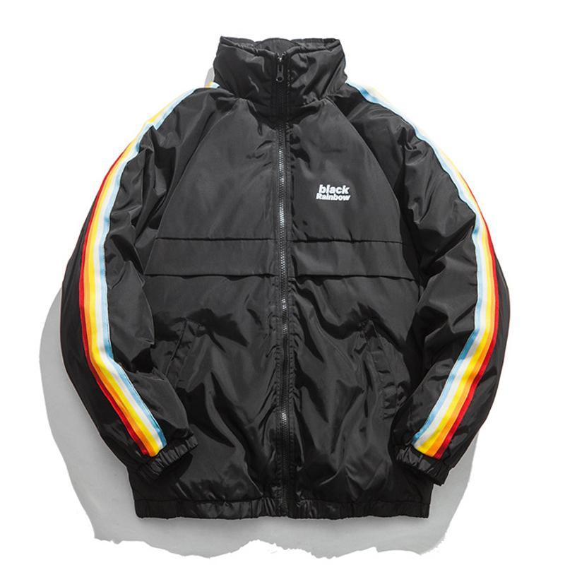 2019 Winter Jacket Men Hip Hop Parka Hombre Jackets Coat Mens Thick Warm Parkas Fashion Clothing Streetwear Blue Black Ws673