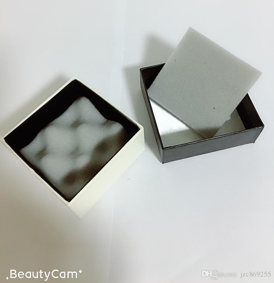 7x7x4cm 블랙 스퀘어 범프 스폰지 C 쥬얼리 스토리지 박스 천국 및 지구 커버 선물 상자 고급 JJewellery 케이스