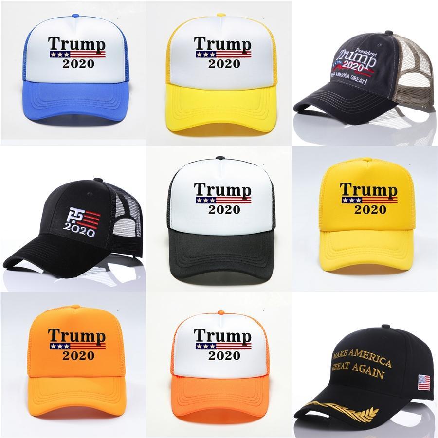 Trump бейсболках Keep America Great Letter Printed вышивки Flat Hip Hop Hat Открытый спортивный Cap Ooa8005 # 453