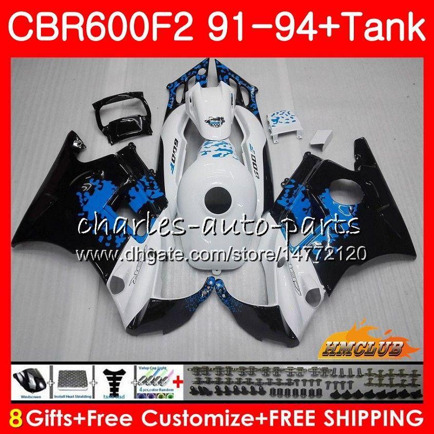 Ciało + zbiornik do Hondy Graffiti Blue CBR 600F2 CBR600FS CBR 600 FS F2 91 92 93 94 40HC.12 600CC CBR600 F2 CBR600F2 1991 1992 1993 1994 Owalnia