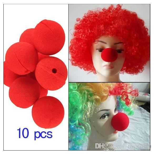 100pcs / lot décoration éponge boule rouge nez de clown magie pour enfants jouet mascarade de Halloween Décoration Livraison gratuite