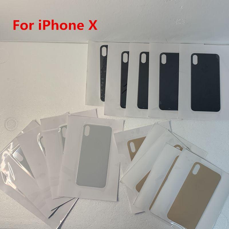 Hold Back de cristal para el iPhone X XR XS XSMAX batería cubierta trasera puerta de la caja grande de todos los colores