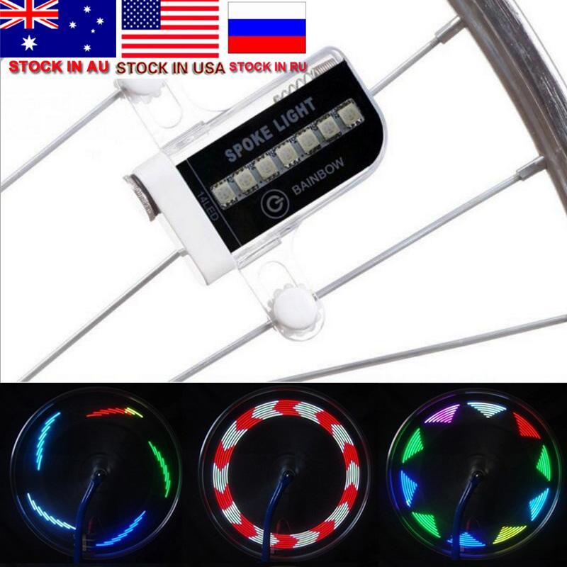 LED Moto Vélo Vélo roue de vélo Signal pneus Spoke Light 30 Changements à vélo Accessoires