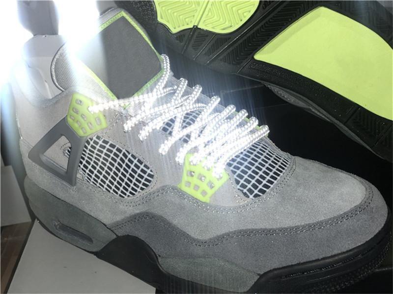 2020 Best Air Authentic OG 4 SE Neon Retro Cool Grey Volt Wolf серый антрацит баскетбольная обувь мужчины с оригинальной коробкой CT5342-007 кроссовки