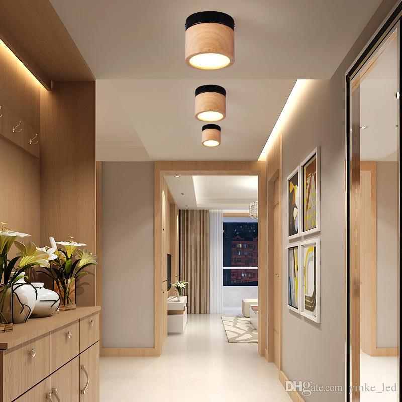 Acquista Applique LED Lampada Da Parete Soggiorno Camera Da Letto In Legno  Applique Da Parete Lampada Da Bagno Interna Corridoio Balcone Corridoio ...