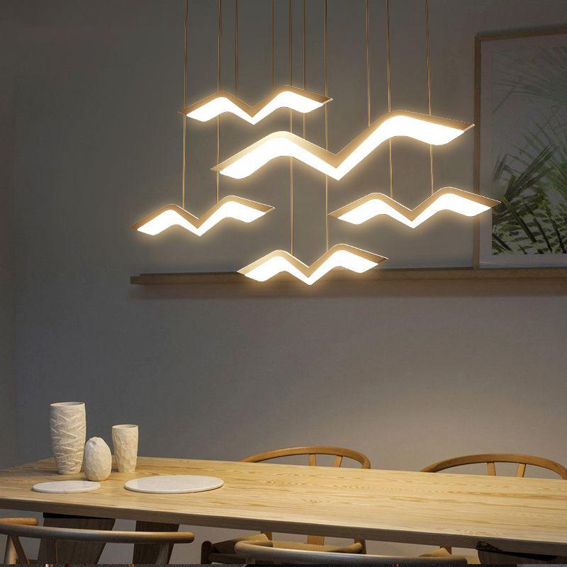 شنقا ديكو diy الحديثة أدى أضواء قلادة ل غرفة الطعام المطبخ غرفة الشريط تعليق الإنارة الإيفينات تعليق قلادة
