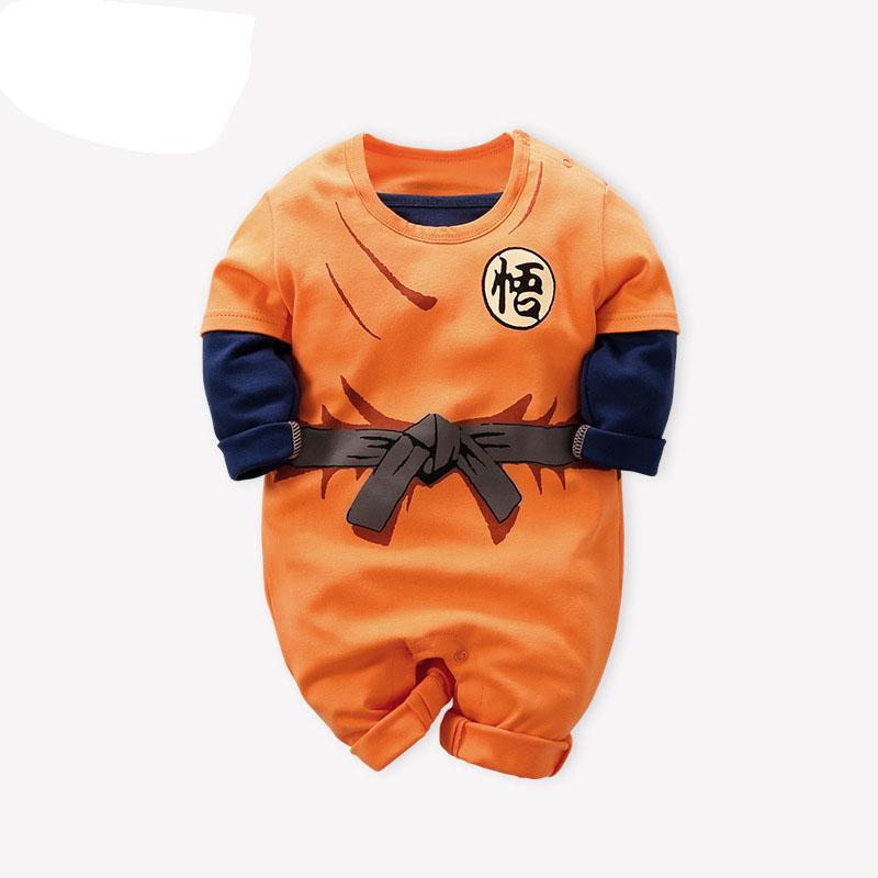 Dragon Ball Yeni Bebek Rompers Yenidoğan Bebek Boys Giyim SON GOKU Bebek Tulum Bebes İçin Erkek Bebek Kız Çocuk doğdu