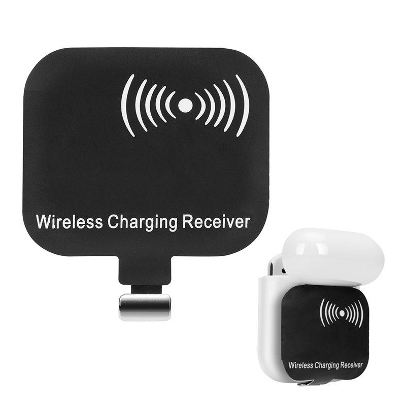 Qi chargeur sans fil de charge Récepteur Adaptateur récepteur pour Apple AirPod Pour AirPod 1 2 Charge rapide US TI Chip