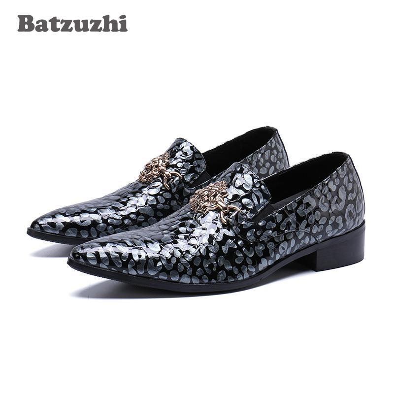 Scarpe da uomo tipo italiano scarpe a punta in vera pelle scarpe da uomo maschili per ufficio, scarpe da ufficio per uomo, grande immagine