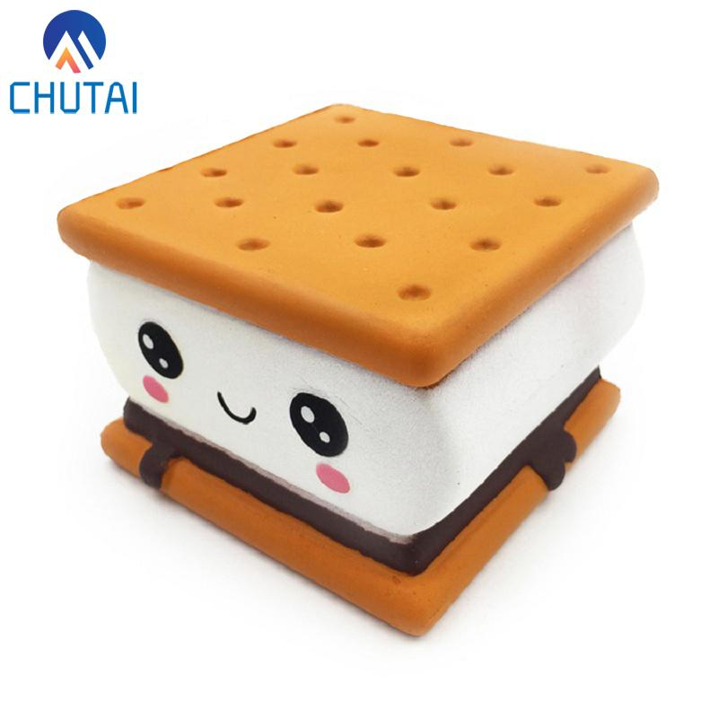 New Fashion Cartoon Chocolate Biscuit Squishies PU Squishy Slow Rising Cream Scented Original Package Kids Toy Xmas Gift