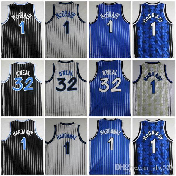 Top Quality Shaquille # 32 Maillot Penny Neal # 1 Maillots Hardaway Tracy # 1 Maillots McGrady Surpiqués Chemises De Collège Hommes O'Neal Chemises S-XXL