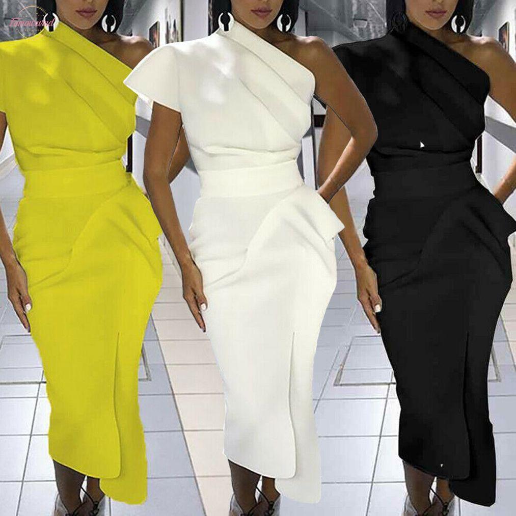 Modo caldo elegante nuova delle donne unico manica corta Progettazione Bandage Bodycon partito formale Lavoro d'ufficio eleganti Vestito longuette abiti semplici