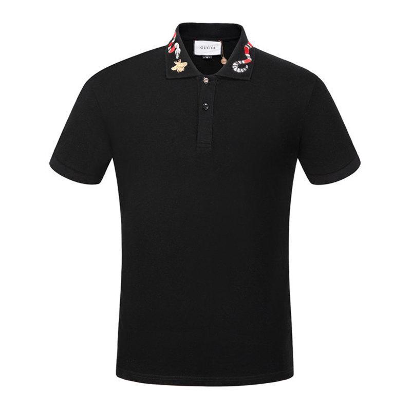 NEW2020Summer l'Europe Paris 2019 concepteur bande polo t-shirts serpent abeille polos broderie florale des hommes de cheval de la mode High street polo T-