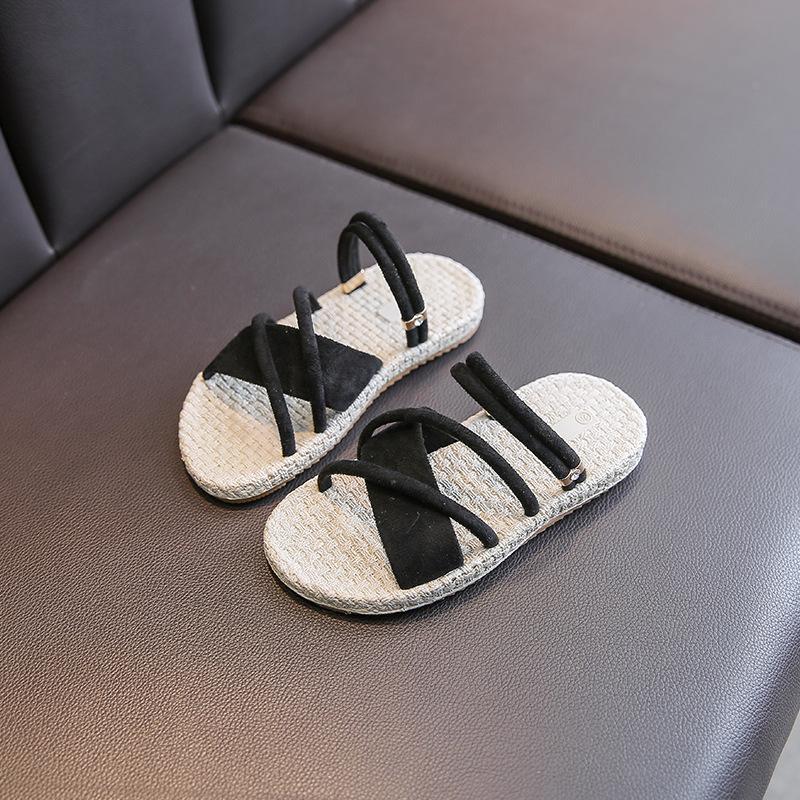 Çocuk sandalet ve terlik 2020 yaz yeni kaymaz düz sandaletler kız moda rahat terlik
