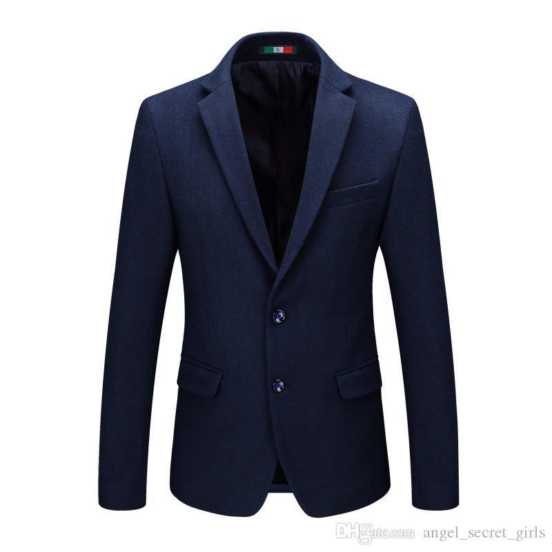 Blazers Primavera dos homens e Slim Casual paletó de lã Negócios Gentleman Casual Suit Oficial blazer dos homens Moda masculina outono