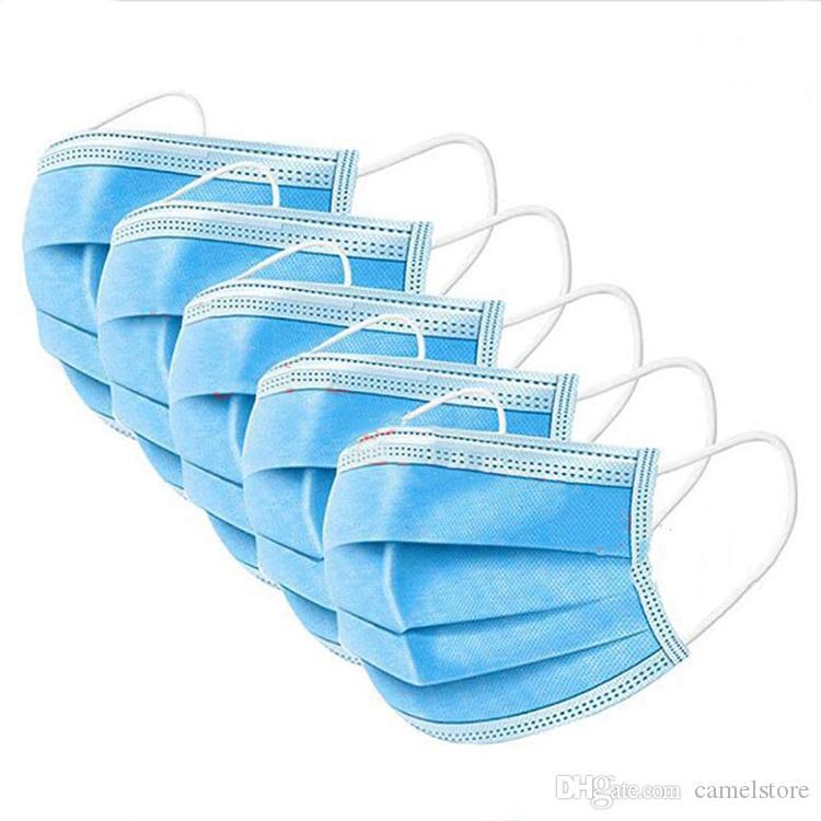 보호 마스크 일회용 블루 삼층 방진 마스크