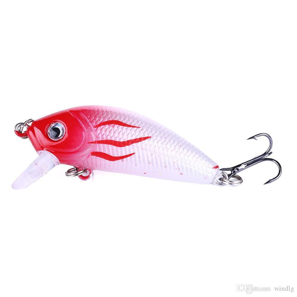 Groothandel 120 stks Swimbaits vissen aas 5 cm 3,6 g 10 # haken vissen tackle lokken forel klassieke minnow bas harde plastic japan carbon haken