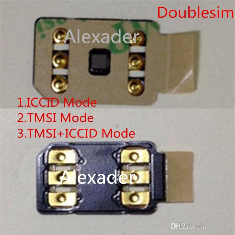 cartão de desbloqueio 3M adesivo autocolante duplo-sim com Auto menu pop-up para iPhone 6 6S 7 8 X XS XR XSMAX 11Pro 11Pro MAX