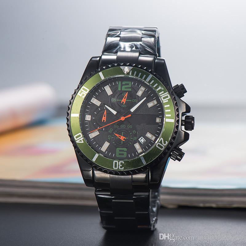 New Swiss Steel 2019 Stainless All Quartz Relojes Designer Famous Chronograph Mens Montre Black Men's Man Homme Watch Gift Watches Wrist Clock kPiTwXulZO