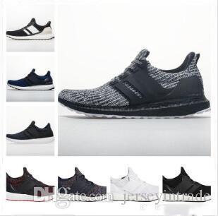 2019 Nuevo Ultraboost 4.0 Zapatillas de running de alta calidad Hombres Mujeres Ultra 3.0 4.0 III Primeknit Runs Blanco Negro Zapatillas 36-45