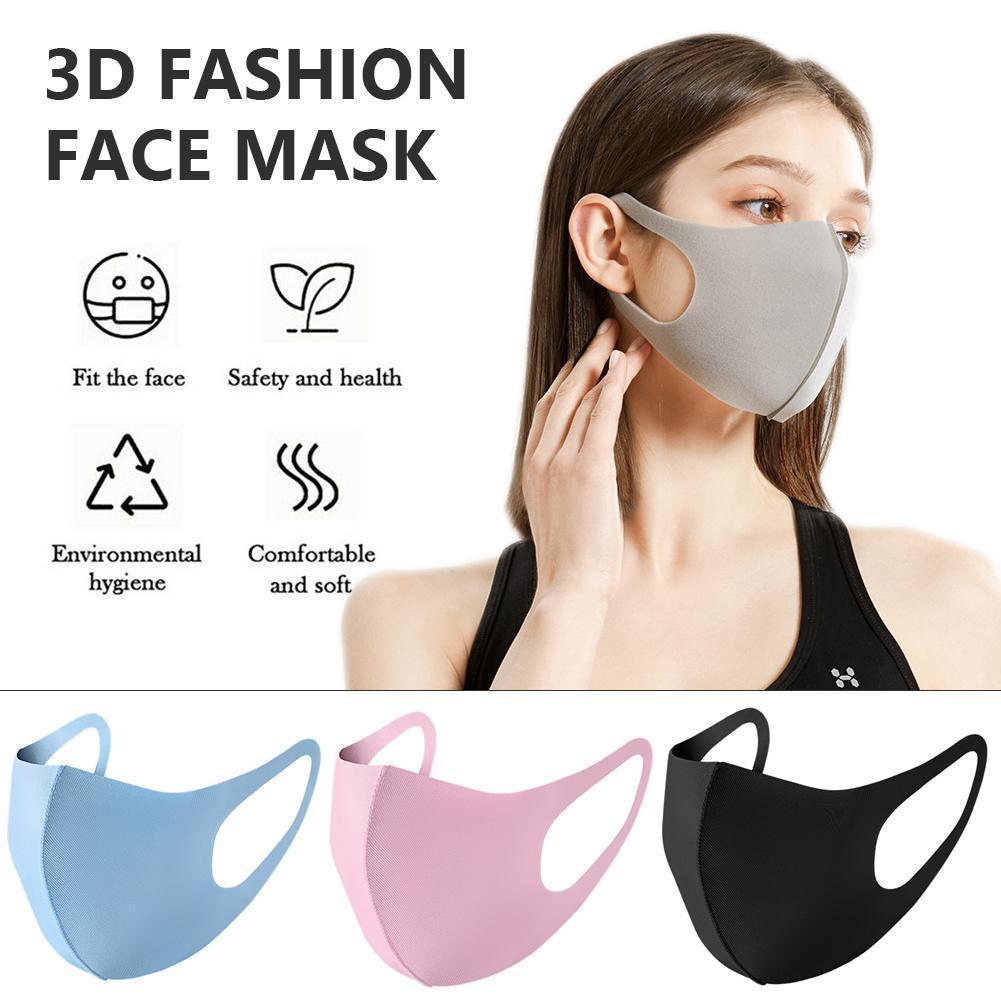 Máscara de la boca del polvo anti hielo cubierta de la cara PM2.5 respirador a prueba de polvo anti-bacterianas Máscaras reutilizable lavable de algodón de seda del hielo Niño adulto En Stock