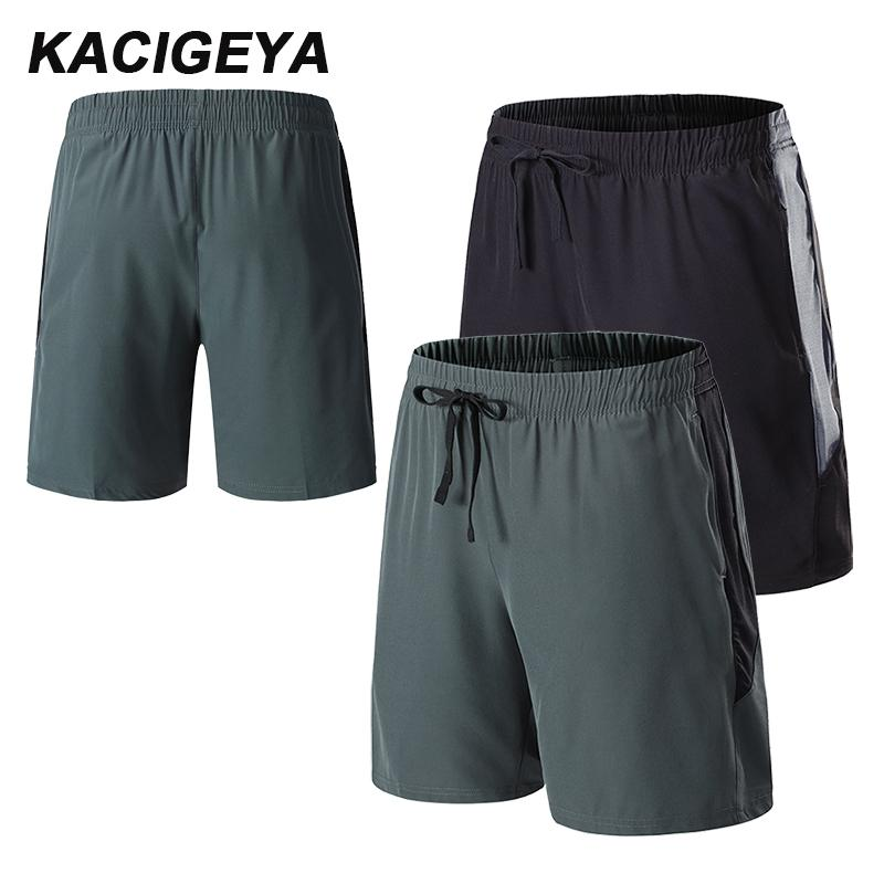 Men Gyms Fitness Loose Shorts Summer Quick-dry Cool Short Pants Casual Beach Brand Training Exercise Jogging Patchwork Shorts