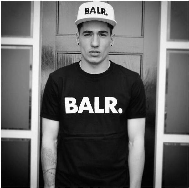 La mode-2016 soulève un t-shirt balr haut t-shirt balr menwomen t-shirt 100% coton Football football sportswear chemises de gymnastique BALR vêtements de marque