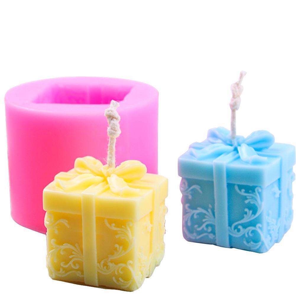 Scatola regalo di Natale della muffa della candela del silicone fai da te Mold Aroma Gesso muffa Handmade Soap Mold