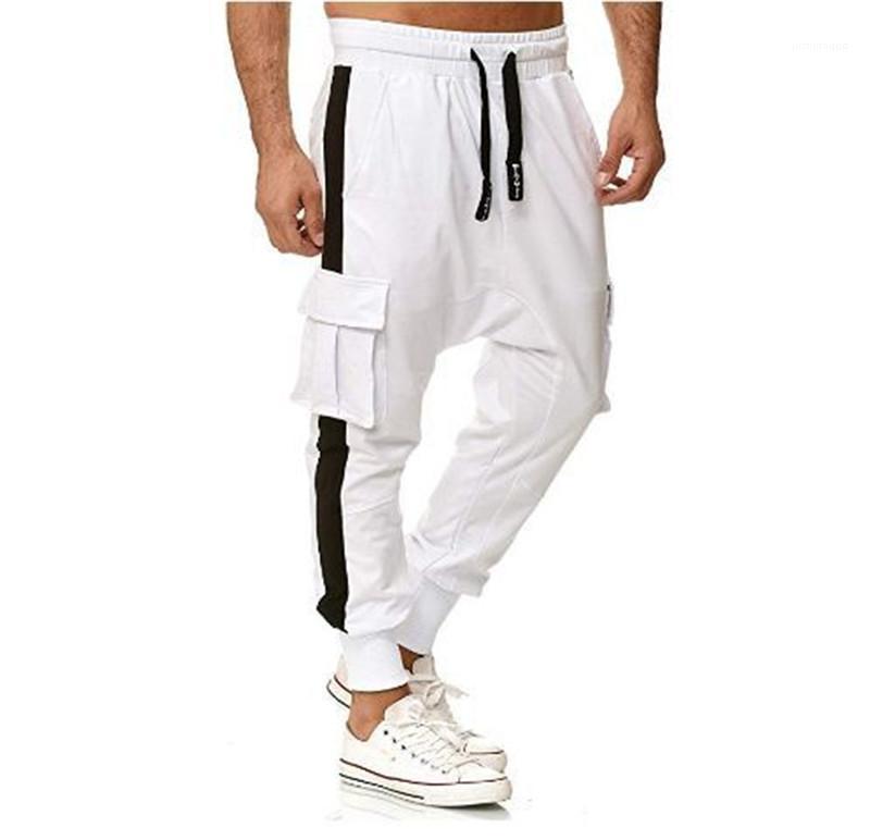 Мужчины Брюки Summer Мужская мода повседневные брюки Инструментальное Карманные брюки INS Стиль Конструкторы Мужчины Брюки повседневные