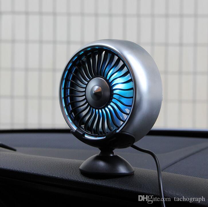 F102 ventilateur de voiture voiture sortie d'air du tableau de bord console centrale double usage voiture multi-fonctions noir et argent