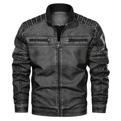 Mens Designer Leather Jackets Fashion PU Vintage Luxury Jacket New Arrival Streetwear Leather Jacket with Zipper Top Clothes Plus Size L-6XL