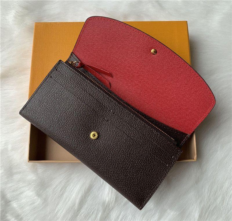오렌지 박스 카드 60,136 LB81 도매 9 개 색상 패션 하나의 지퍼 pocke 남성 여성 가죽 지갑 숙녀 숙녀 긴 지갑
