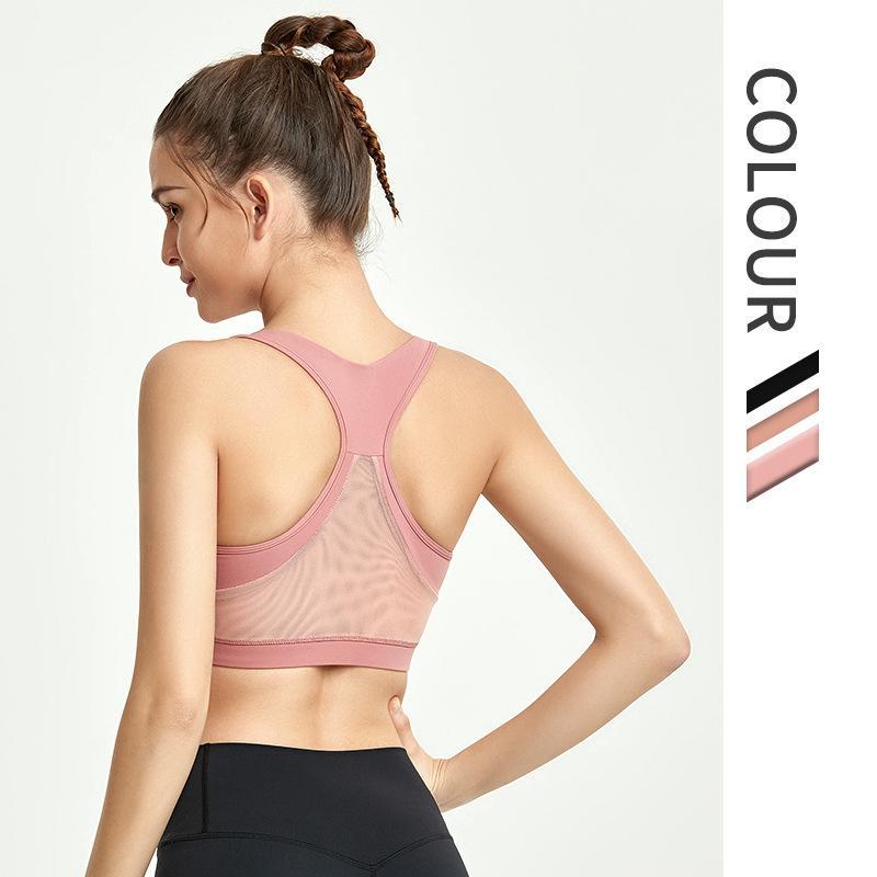 رياضة ملابس شبكة تنفس اليوغا الصدرية قمم اللياقة البدنية المرأة صدمات الرياضة تجريب الجري الركض الرياضية الملابس الداخلية الرياضة مثير