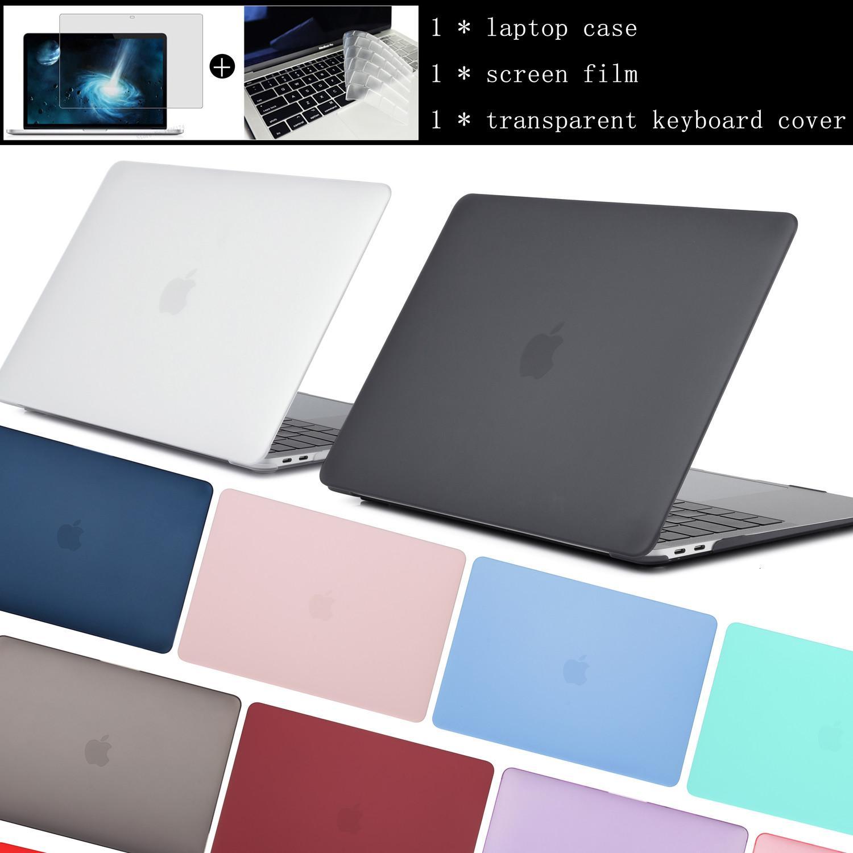 2020 كمبيوتر محمول القضية عن الجديد ماك بوك اير A2179 برو الشبكية 11 12 13 15 لنظام التشغيل Mac 13.3 15.4 16 بوصة مع اللمس بار ID + لوحة المفاتيح غطاء