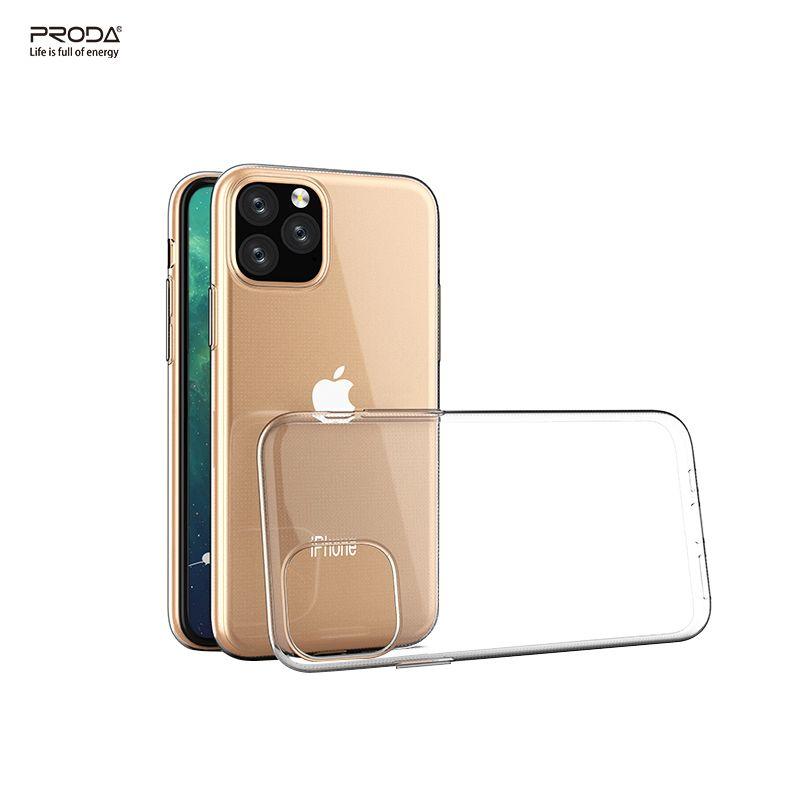 Proda Lintle Crystal Clear Magro à prova de choque macio TPU cobrindo todo o corpo da caixa protetora para iPhone 11 5,8 6,1 6,5 polegadas