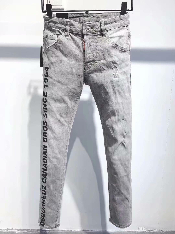 2020 nueva marca de jeans de moda de los hombres europeos y americanos ocasionales, lavado de alto grado, la molienda pura mano, la optimización de la calidad 914