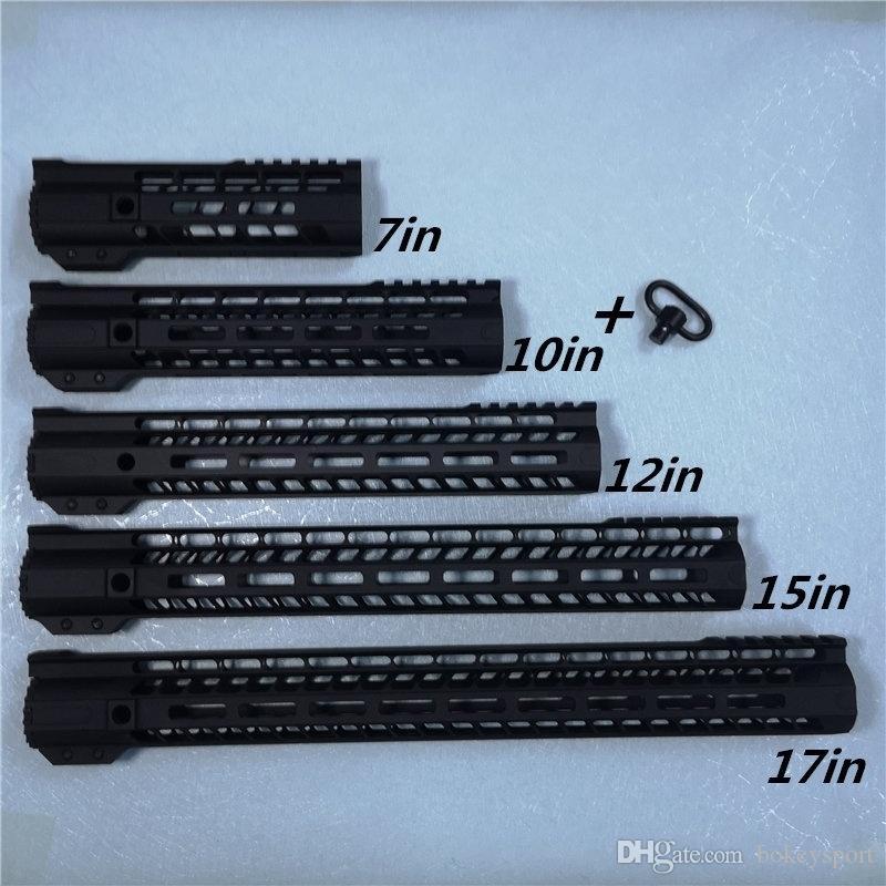 جديدة ذات جودة عالية أسلوب AR15 التعويم الحر mlok HANDGUARD 7 10 12 15 17inch Picatinny السكك الحديدية جبل قوس M4 M16