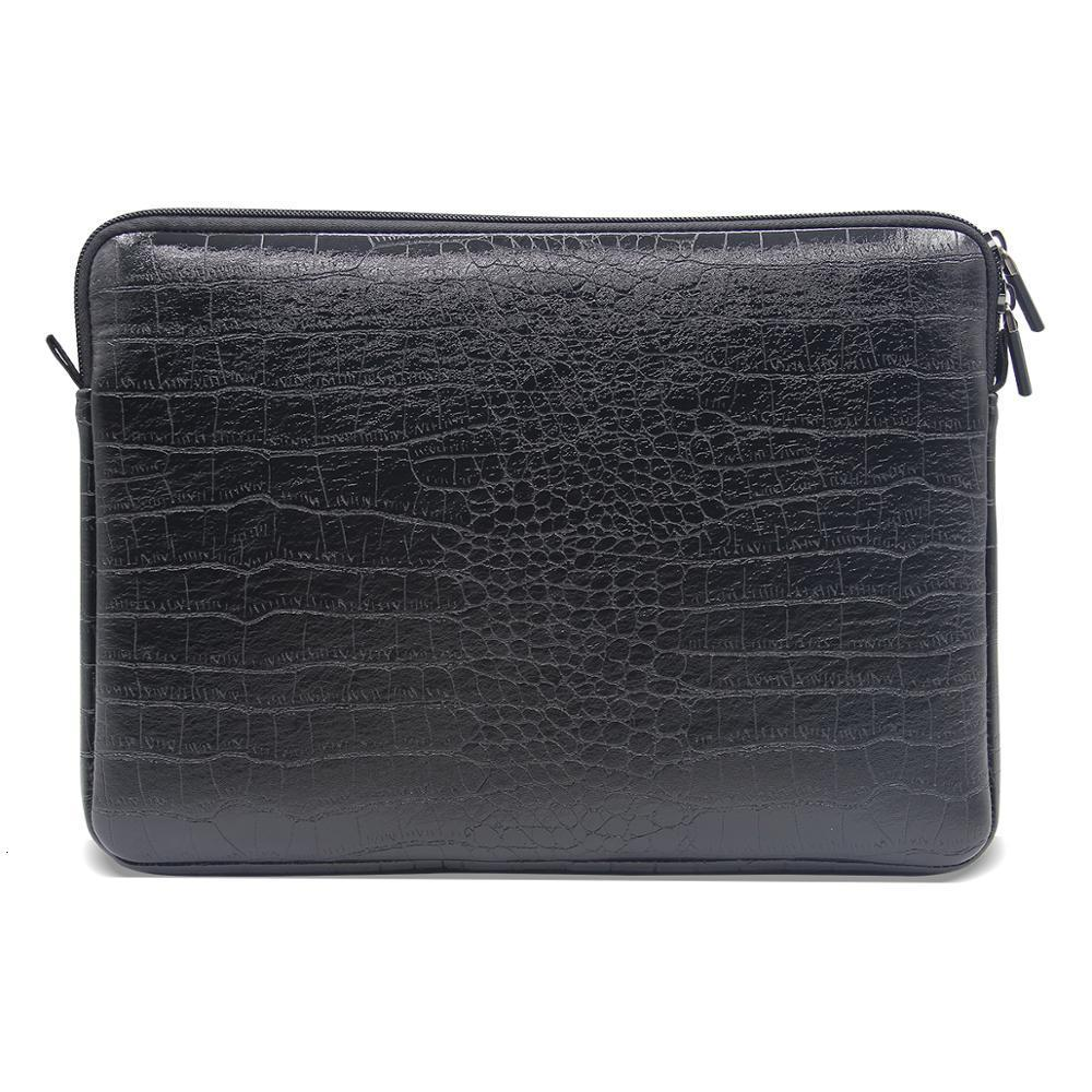 Sleeve Laptop Waterproof Bag Leather Notebook Case Cover Pouch For 12 13 15 inch Macbook Air Pro Retina