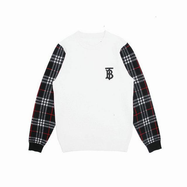 Suéteres para los hombres de moda de manga larga otoño jersey suelto para el suéter clásico de la camiseta 0038