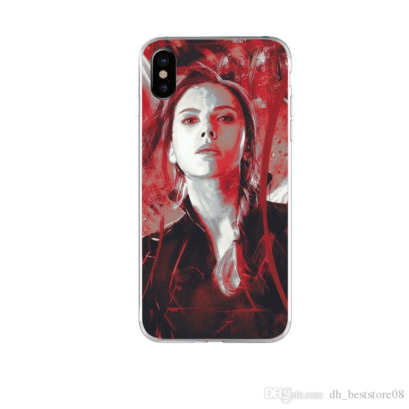 Super Hero Phone Case For iPhone 6/7/8/X TPU Phone Cover Creative Cell Phone Protector For iPhone Xr Xs Max Q668