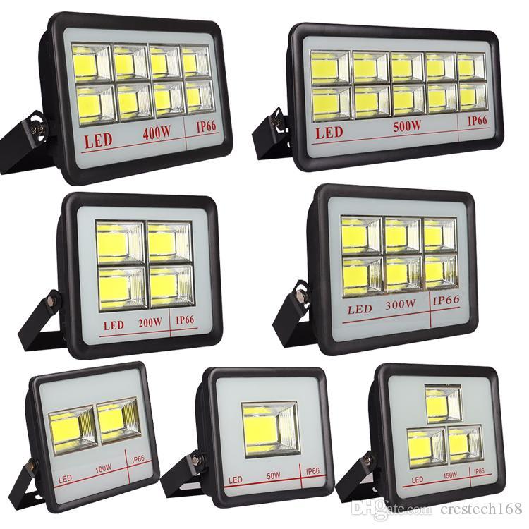 Outdoor-LED-Flutlicht-Befestigung 600W 500W 400W 300W IP66 wasserdichter Exterieur COB Flutlicht 90 Grad Abstrahlwinkel Spotlight