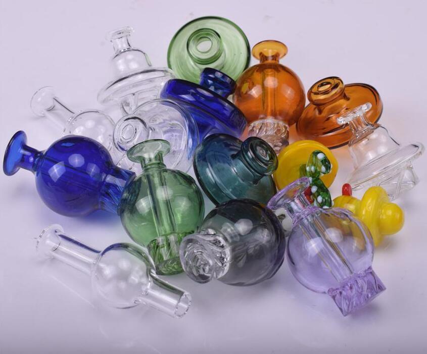 35 millimetri OD universale vetro colorato UFO cupola tappo carb per i tubi di acqua di vetro di quarzo banger Chiodi, DAB piattaforme petrolifere il trasporto libero di vetro bong