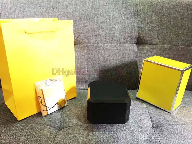 2020 Zähler Original authentisch Luxus neue schwarz für brei tling Box Watch Booklet Karte Tags und Papiere In Englisch Uhren Box Original boxe