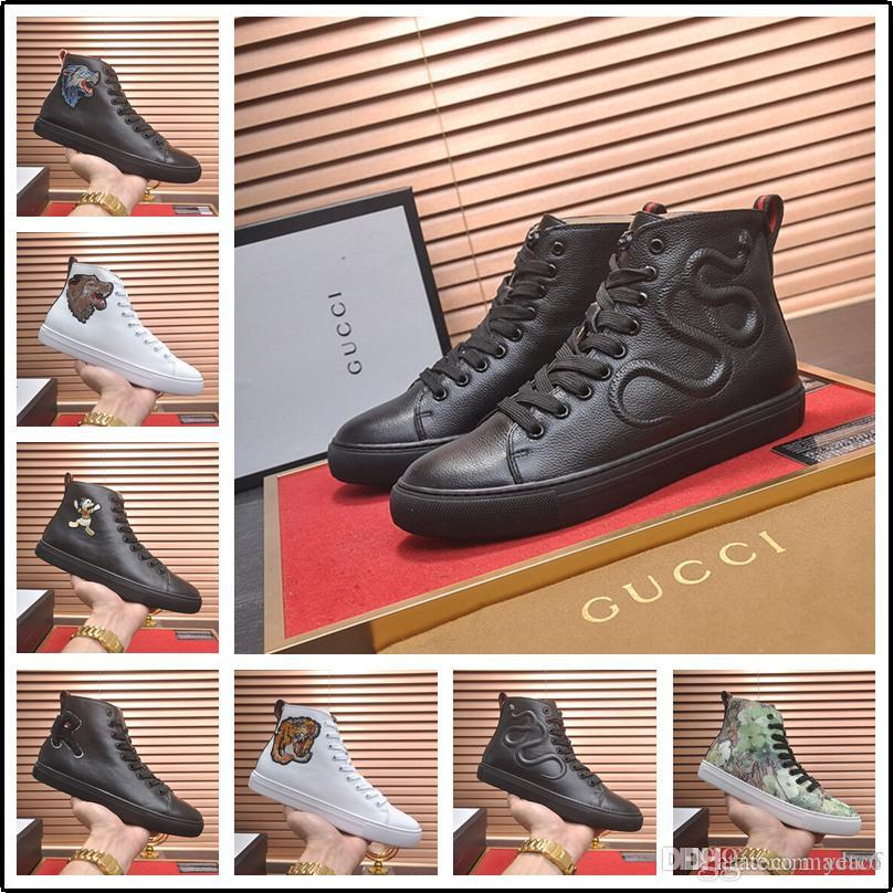 18SS 2020 Hommes vulcanisée Chaussures Black High Top Chaussures à lacets en toile Casual Automne Hiver pour les hommes garçons Chaussures de sport Big Taille Flats Unisexe
